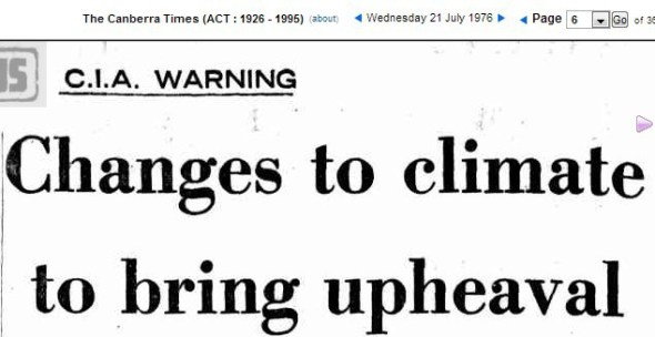CIA COOLING WARNING