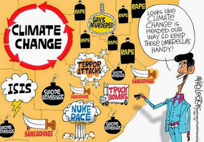 Cartoon - Climate Change Threats