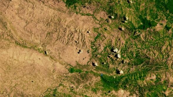 Haiti - Dominican Republic BORDER5 - NASA SAT