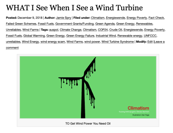 WHAT I See When I See a Wind Turbine | Climatism