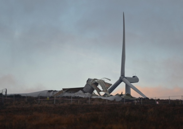turbine collapse ireland