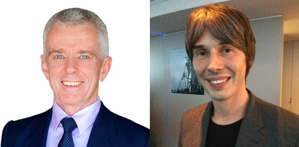 Malcolm Roberts (Left, source One Nation Website), Brian Cox (Right), source Wikimedia