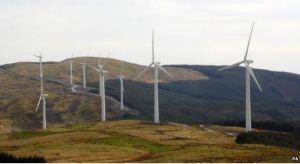 Welsh windfarm [image credit: PA / BBC]