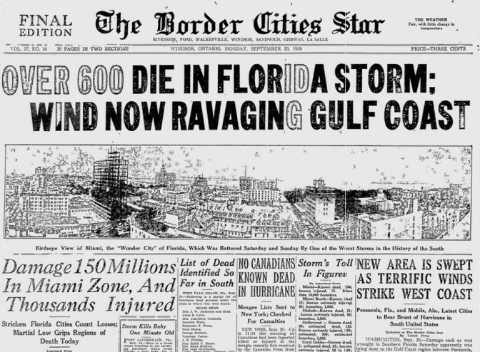 1935 Labour Day Hurricane Miami FL.jpg