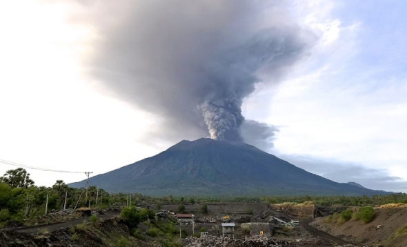 Bali Volcano Mount Agung November 2017 Eruption