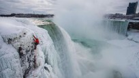 Will Gadd's Historic Climb Up Frozen NIAGARA