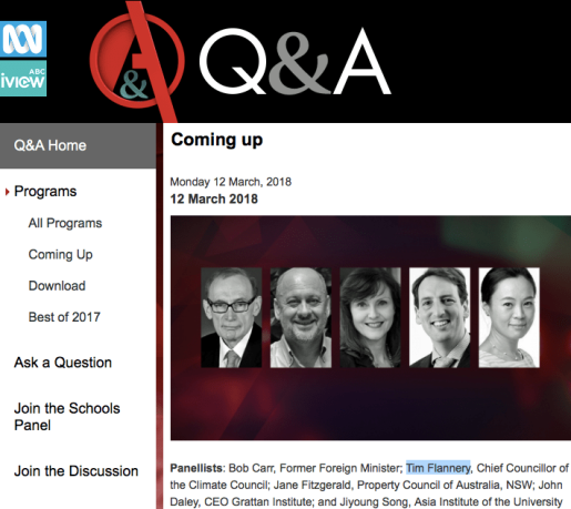 Q&A - Flannery 12 March 2018