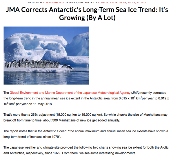 Antarctic's Long-Term Sea Ice Trending Up | Climate Dispatch