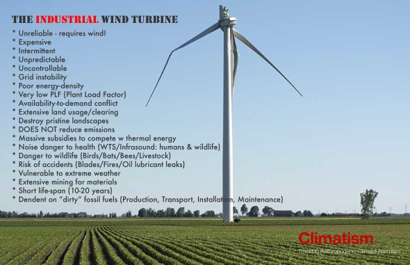 INDUTSRIAL WIND TURBINES - THE FLAWS