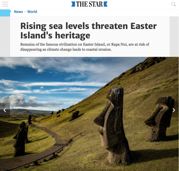 Rising sea levels threaten Easter Island's heritage | The Star