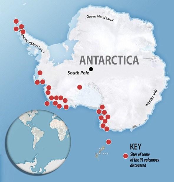 91 UNDERWATER VOLCANOES ANTARCTICAGOOGLE MAPS