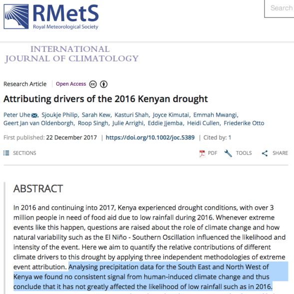 Attributing drivers of the 2016 Kenyan drought - Uhe - 2018 - International Journal of Climatology - Wiley Online Library