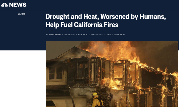 Drought and Heat, Worsened by Humans, Help Fuel California Fires | NBC