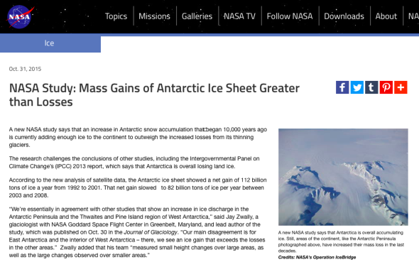 NASA Study- Mass Gains of Antarctic Ice Sheet Greater than Losses | NASA