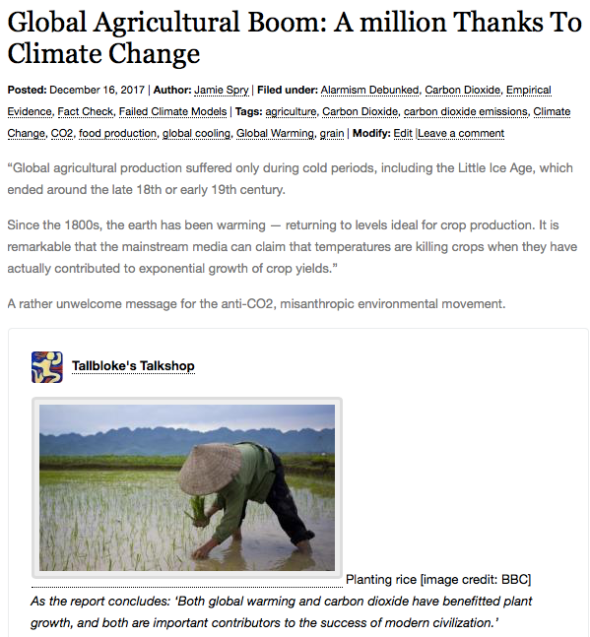 Global Agricultural Boom: A million Thanks To Climate Change | Climatism