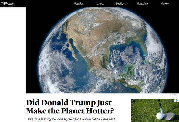 Did Donald Trump Just Make the Planet Hotter? - The Atlantic