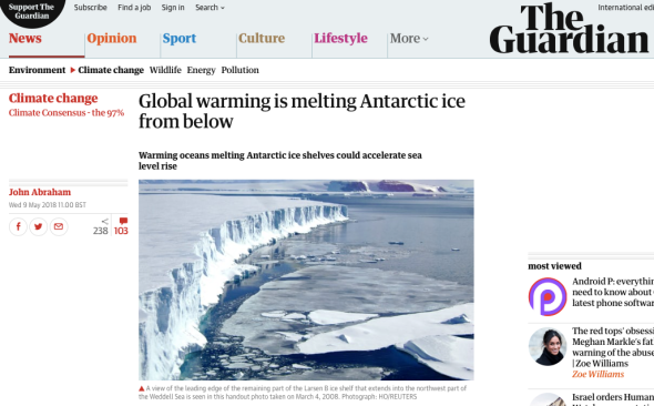 Global warming is melting Antarctic ice from below | John Abraham | Environment | The Guardian