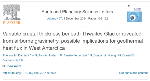 Variable crustal thickness beneath Thwaites Glacier revealed from airborne gravimetry, possible implications for geothermal heat flux in West Antarctica - ScienceDirect