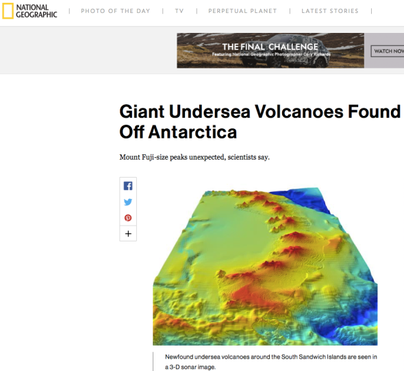 Giant Undersea Volcanoes Found Off Antarctica | Nat Geo