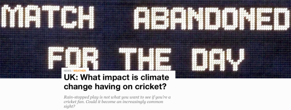 UK - What impact is climate change having on cricket? | News | Al Jazeera