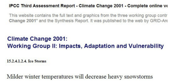 IPCC – Intergovernmental Panel on Climate Change CLIMATISM