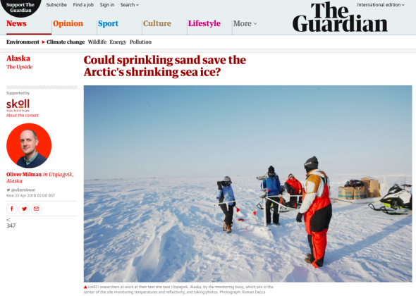 Could sprinkling sand save the Arctic_s shrinking sea ice? | World news | The Guardian