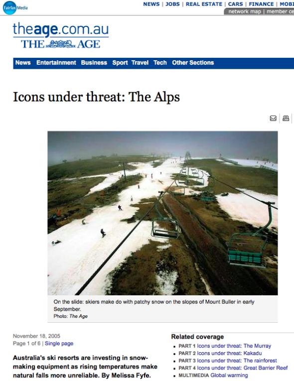 Icons under threat- The Alps – General – In Depth – theage.com