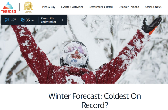 Winter Forecast: Coldest On Record? CLIMATISM