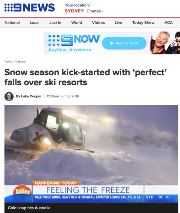 THE BIG FREEZE - Snow season kick-started with 'perfect_ falls over ski resorts | 9NINE
