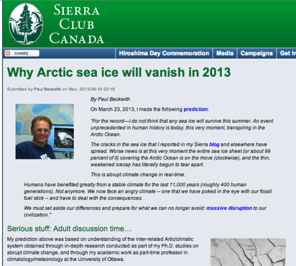 Why Arctic sea ice will vanish in 2013 | Sierra Club Canada