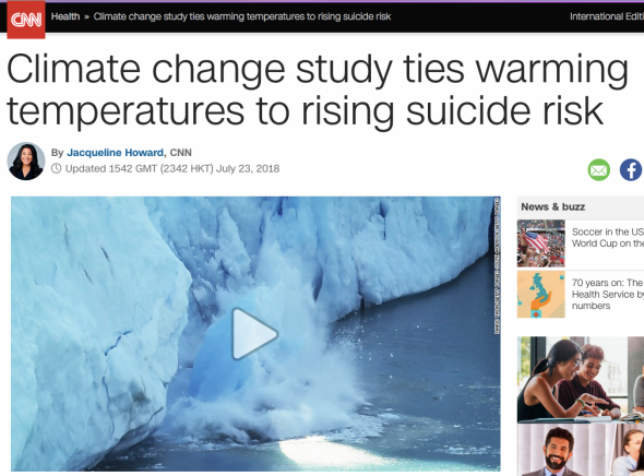 Climate change tied to increased suicide risk in new study - CNN