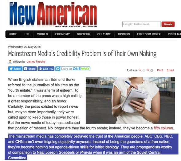 Mainstream Media_s Credibility Problem Is of Their Own Making