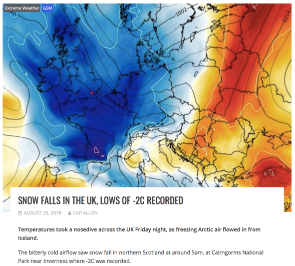 SNOW Falls in the UK, Lows of -2C Recorded - Electroverse