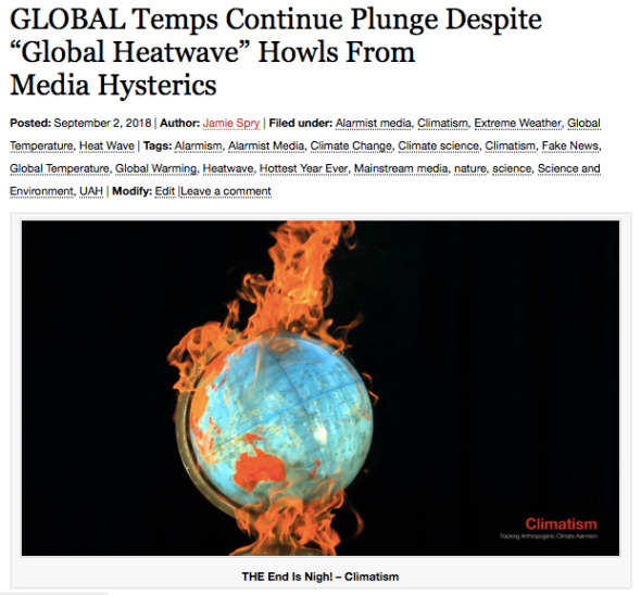 "GLOBAL Temps Continue Plunge Despite ""Global Heatwave"" Howls From Media Hysterics 