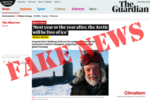 GUARDIAN ARCTIC FAKE NEWS