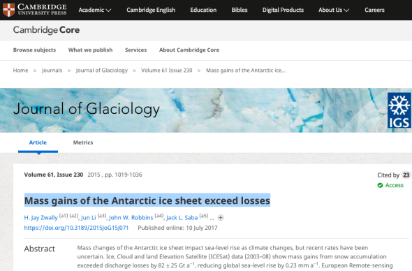 Mass gains of the Antarctic ice sheet exceed losses | Journal of Glaciology | Cambridge Core