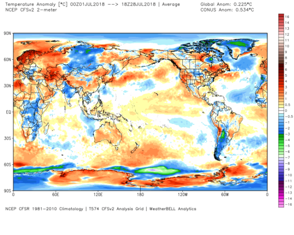 NCEP July Temp Anomaly