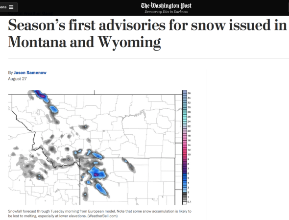 Season_s first advisories for snow issued in Montana and Wyoming - The Washington Post