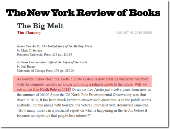 The Big Melt | by Tim Flannery | The New York Review of Books
