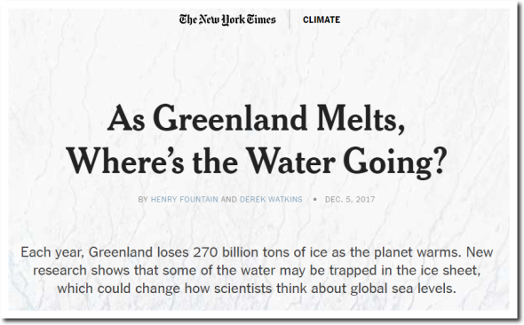 As Greenland Melts, Where_s the Water Going? – The New York Times