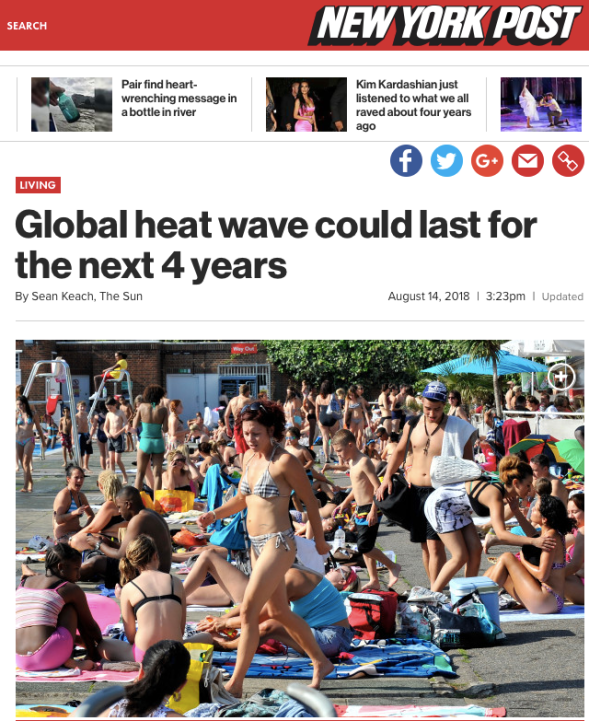 Global heat wave could last for the next 4 years | NYPost