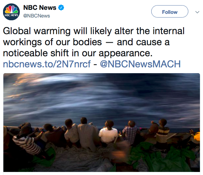 NBC News on Twitter - Global warming will likely alter the internal workings of our bodies — and cause a noticeable shift in our appearance.