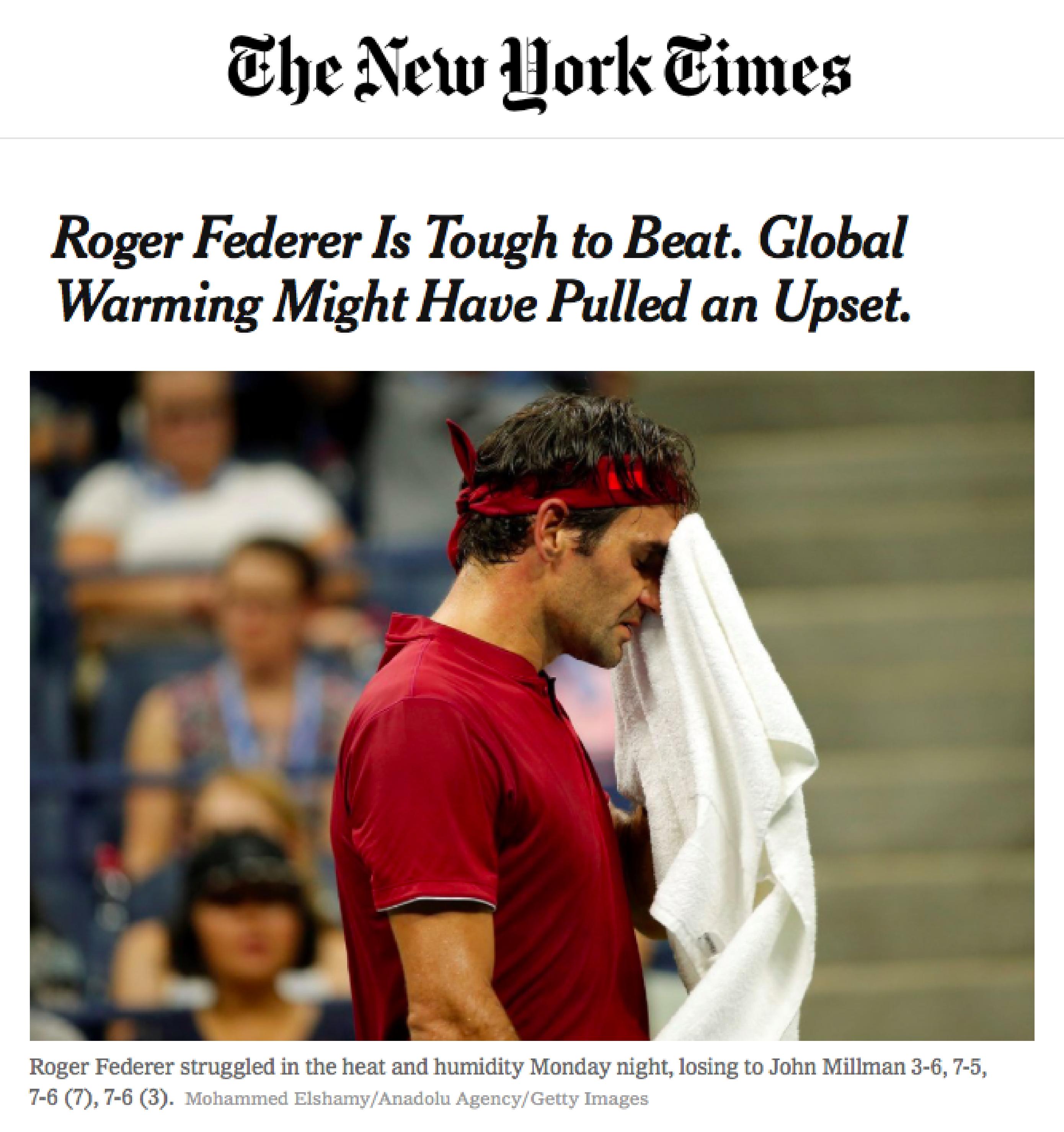 NYT Federer GLOBAL WARMING - CLIMATISM