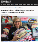 Volunteer knitters in high demand as soaring power prices leave people cold – ABCNews