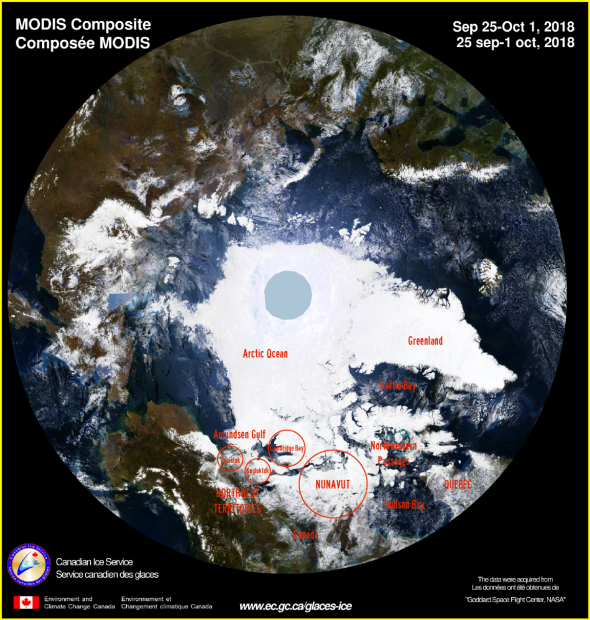 ARCTIC SEA ICE Sep 25-Oct 1, 2018