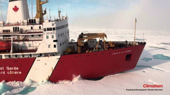 CCGS Louis S St LAurent North East of Greenland Stuck In Ice - Aug 2015 | YouTube
