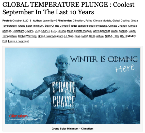 GLOBAL TEMPERATURE PLUNGE - Coolest September In The Last 10 Years | Climatism