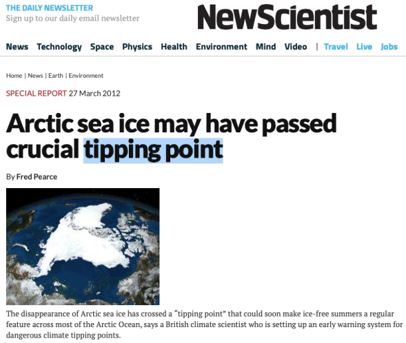 Arctic sea ice may have passed crucial tipping point | New Scientist