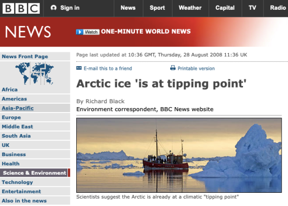 BBC NEWS | Science:Nature | Arctic ice 'is at tipping point'