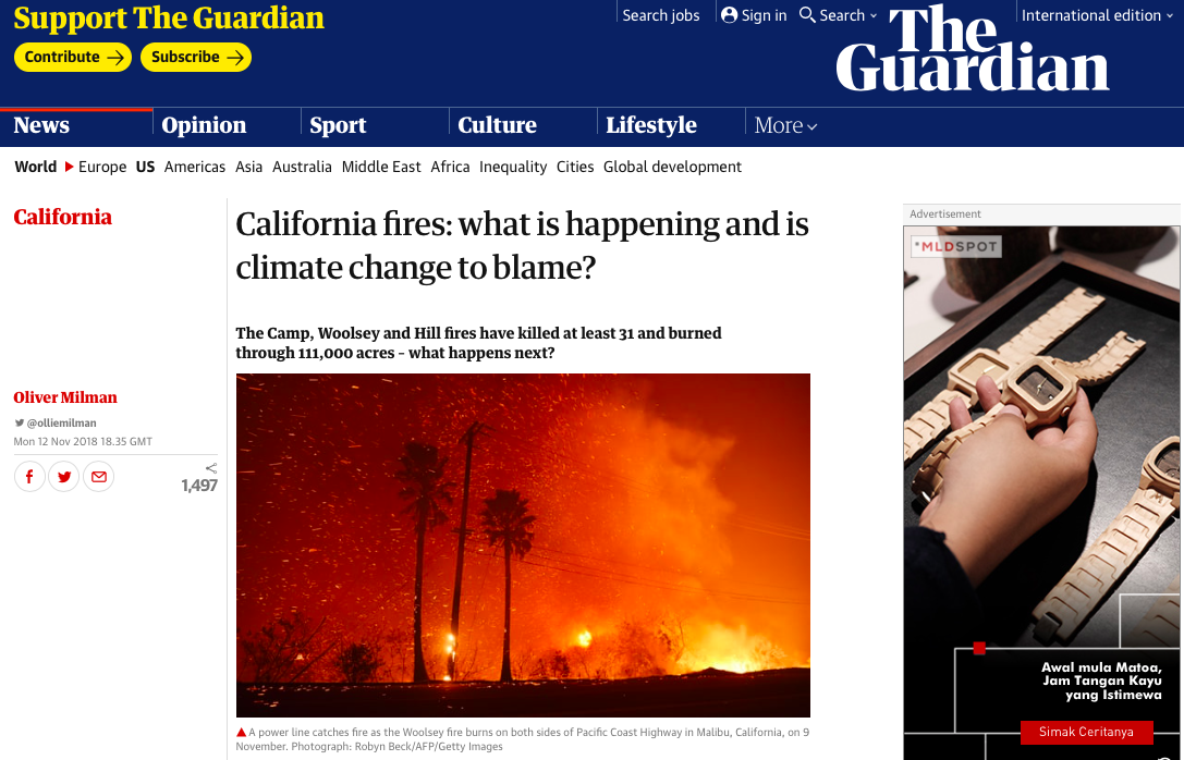 California fires - what is happening and is climate change to blame? | US news | The Guardian